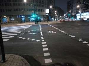 Zona de espera avanzada para ciclistas