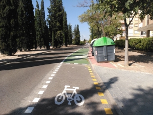 Carril bici vía hispanidad