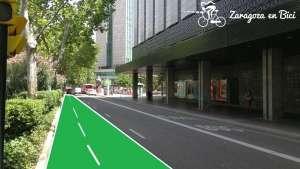 Carril bici por Paseo Sagasta hasta Paseo Las Damas
