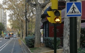 Semáforos ámbar/rojo para ciclistas