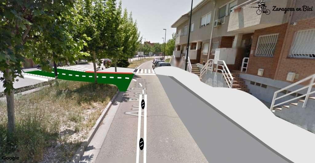 Carril bici Avenida Real Zaragoza