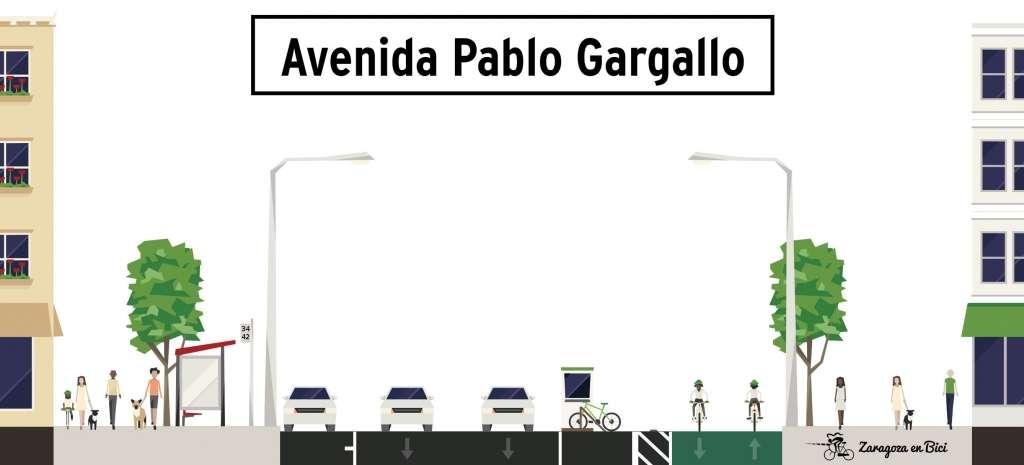 Carril bici Pablo Gargallo