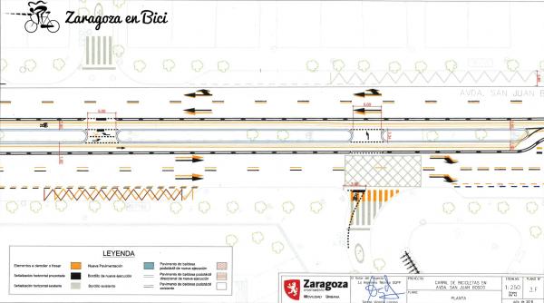 Plano carril bici San Juan Bosco